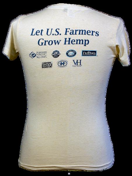 Womens Hemp History Week T-Shirt - Back