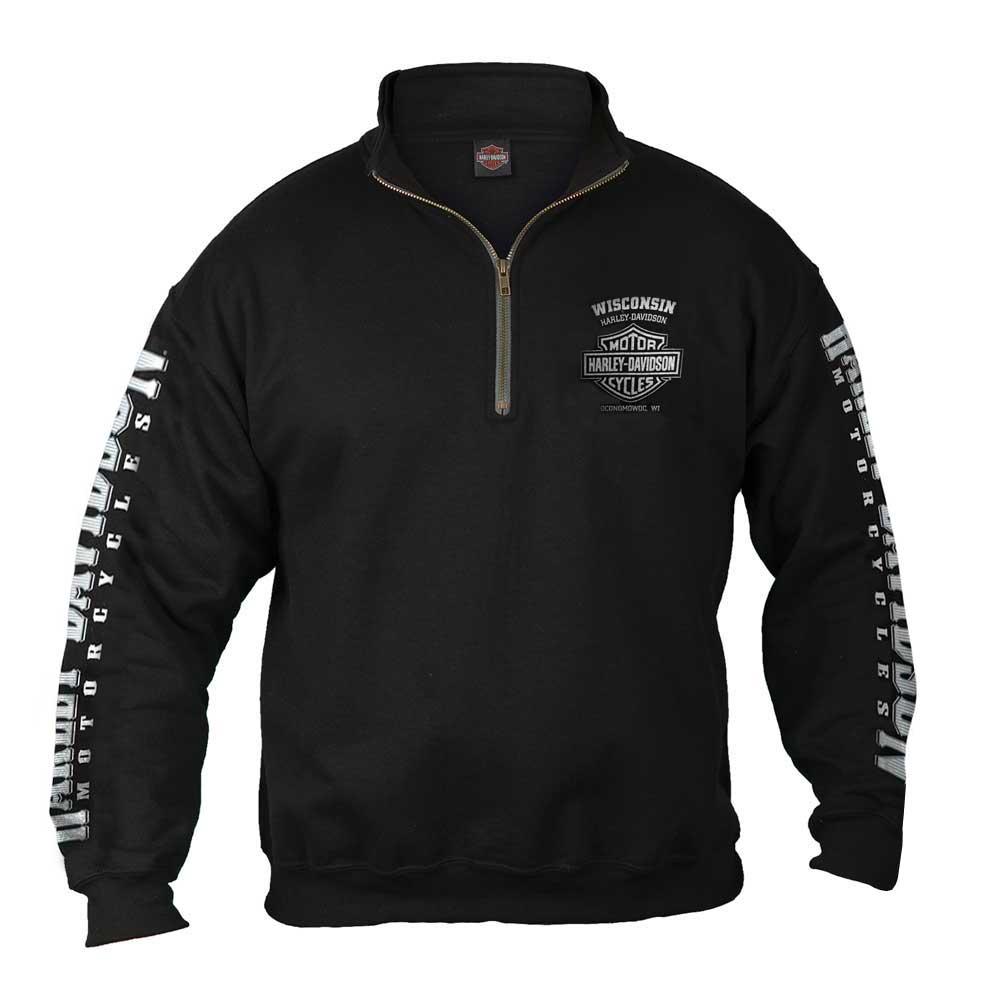 Men's Lightning Crest 1/4 Zip Cadet Pullover Sweatshirt