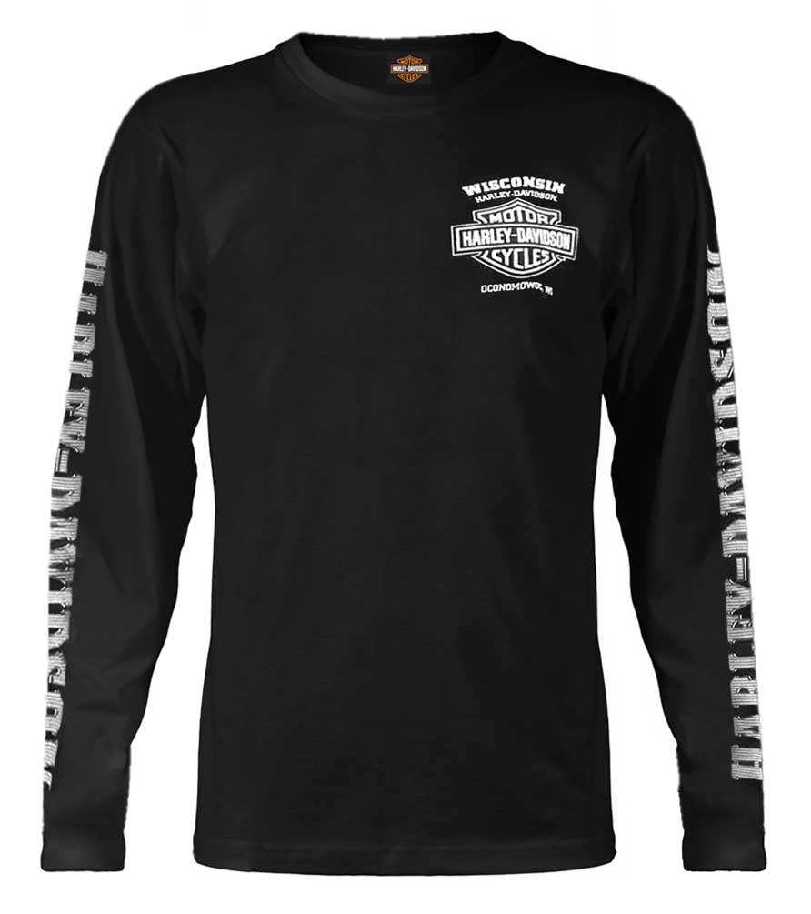 Men's Skull Lightning Crest Graphic Long Sleeve Shirt