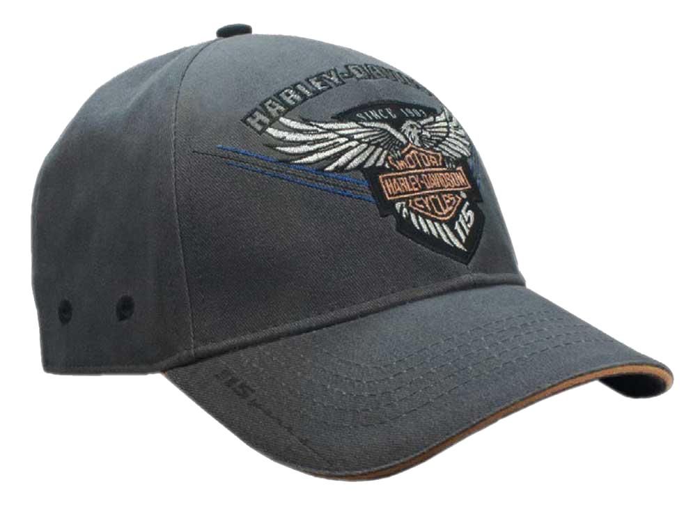 Harley-Davidson Men's Embroidered 115th Anniversary Eagle Baseball Cap
