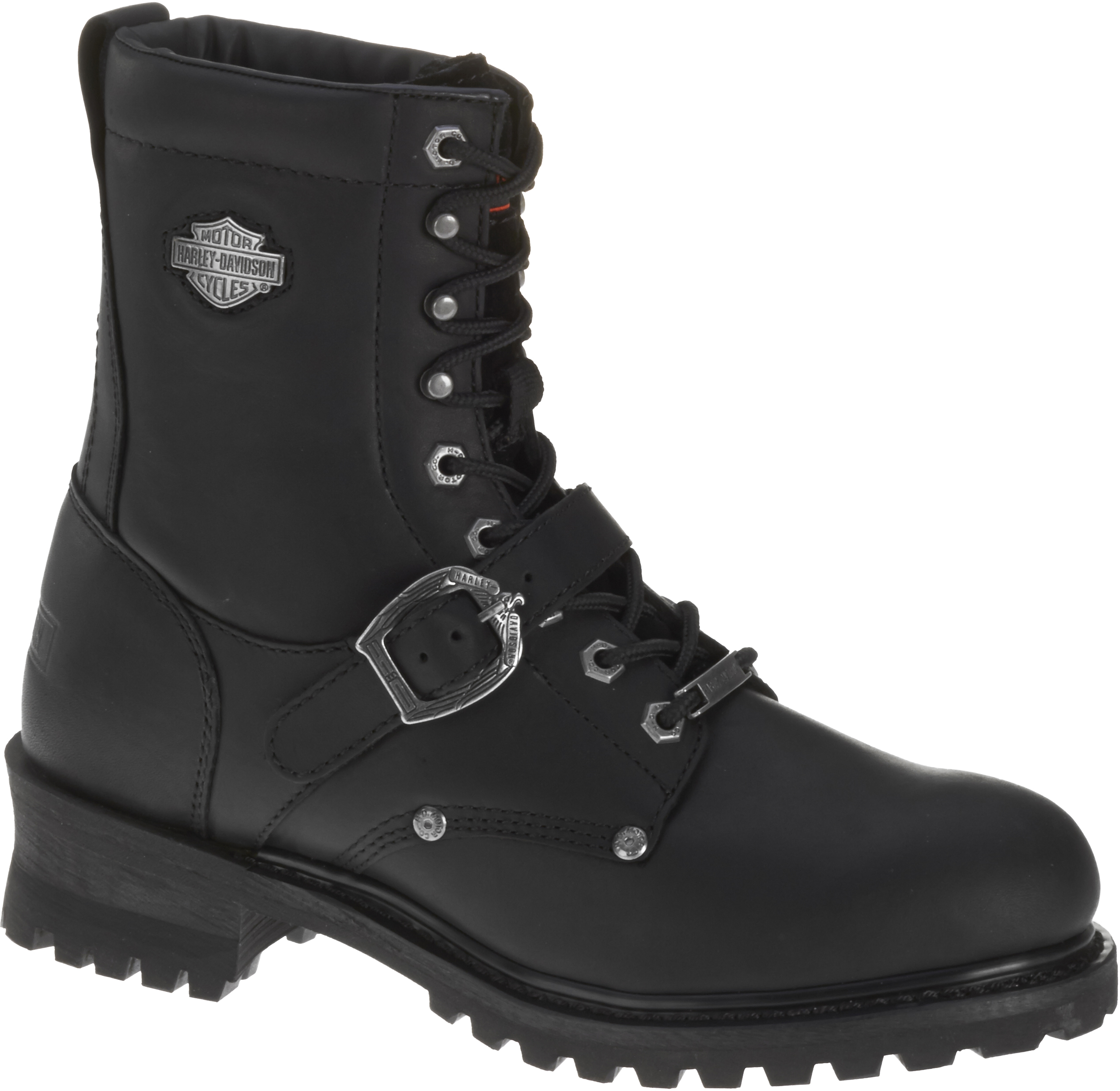 Men's Faded Glory 8-Inch Motorcycle Black Boots