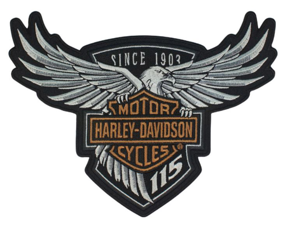 Harley-Davidson 115th Anniversary Eagle Emblem Patch Large 8 x 6 Limited Edition