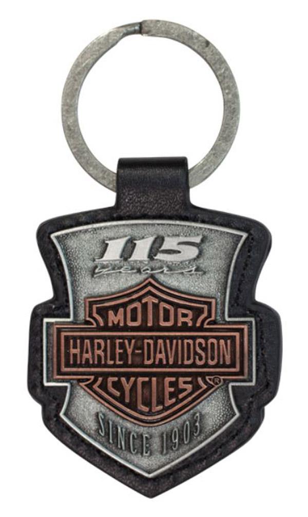 Harley-Davidson 115th Anniversary 2D Die Struck Keychain, Antique Finish.