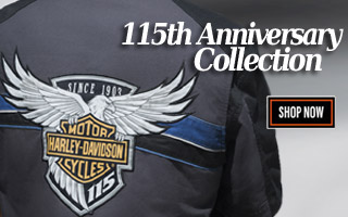 Harley-Davidson 115th Anniversary Mens Collection Available Now from Wisconsin H-D