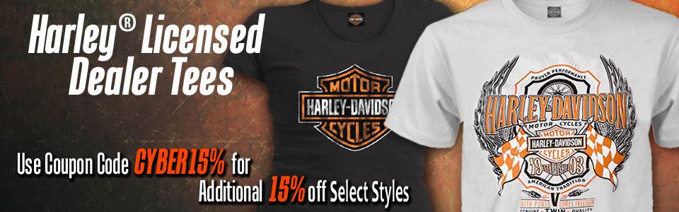 Closeout Harley-Davidson T-Shirts at Discount