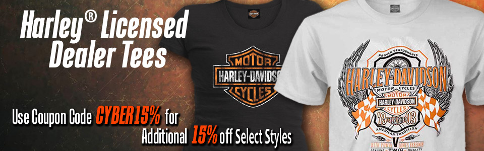 Closeout Harley-Davidson T-Shirts at Discount