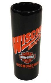 Harley-Davidson® Wisconsin Harley Custom Shot Glass Tall Black W SHOT