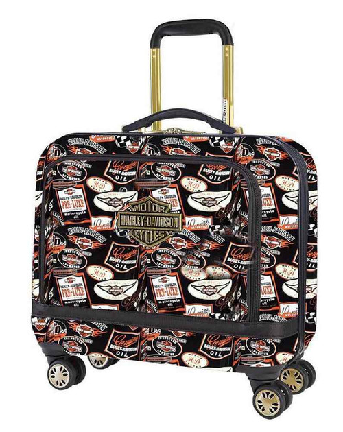 Harley-Davidson® 17 In Overnight Vintage Carry-On Spinner Wheel Luggage 99916-VIN - A