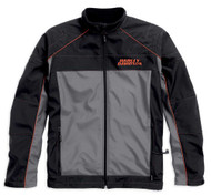 Harley-Davidson® Men's Recumbant Heated Soft Shell Jacket, Black. 98556-15VM