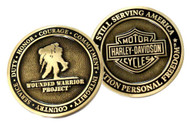Harley-Davidson® Bar & Shield Wounded Warrior Project Challenge Coin 8003425