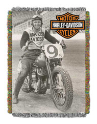 Harley-Davidson® Race Time Tapestry Throw Blanket, 48 x 60 inch NW282841