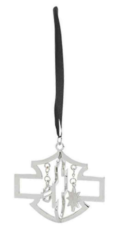 Harley-Davidson® Bar & Shield Logo Christmas Ornament, Silver/Black. 96839-16V