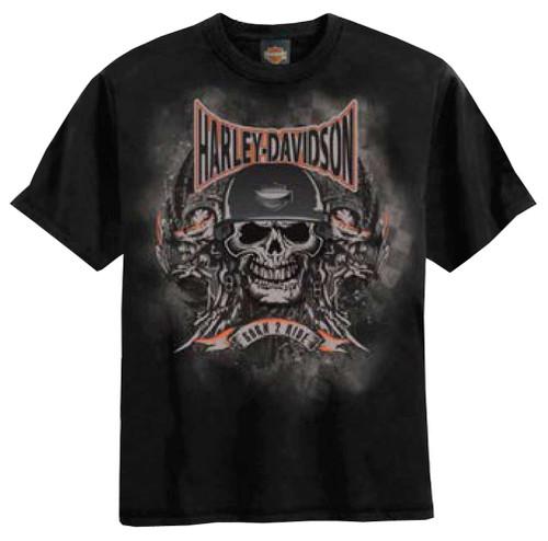 Harley-Davidson® Big Boys' Skull Embossed H-D T-Shirt Black 0294184