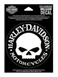 Harley-Davidson® Hubcap Skull Small Decal, 4'' W x 4'' H DC1029302