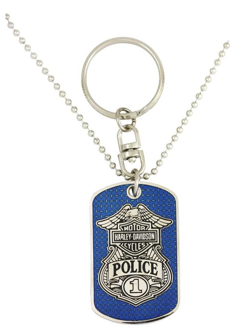 Harley-Davidson® Dog Tag, Police Trans Bar & Shield Chain/Key Chain 8002831 - A