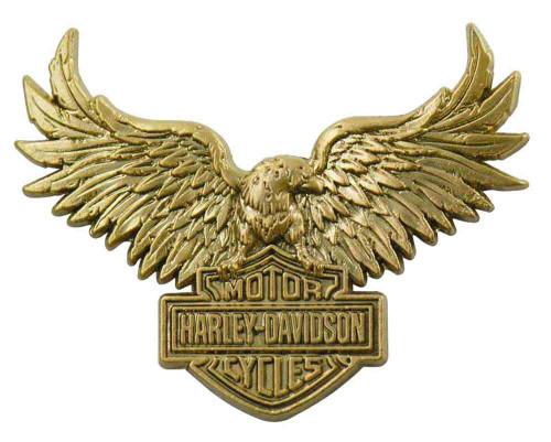 Harley-Davidson® Eagle Bar & Shield Logo Pin, Gold Finish, 1.25 x 1.25 in 96621