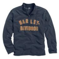 Harley-Davidson® Men's Genuine Classics 1/4-Zip Long Sleeve Shirt 99000-14VM