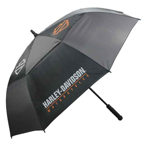 Harley-Davidson® Bar & Shield HD Script Golf Umbrella, Black & Charcoal UMB516804
