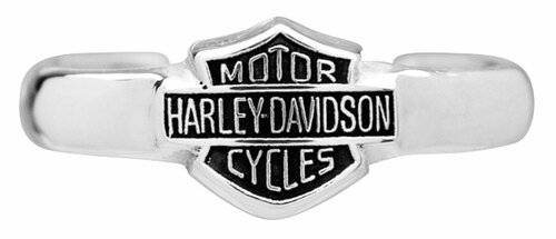 Harley-Davidson® Bar & Shield Sterling Silver Toe Ring HDT0002