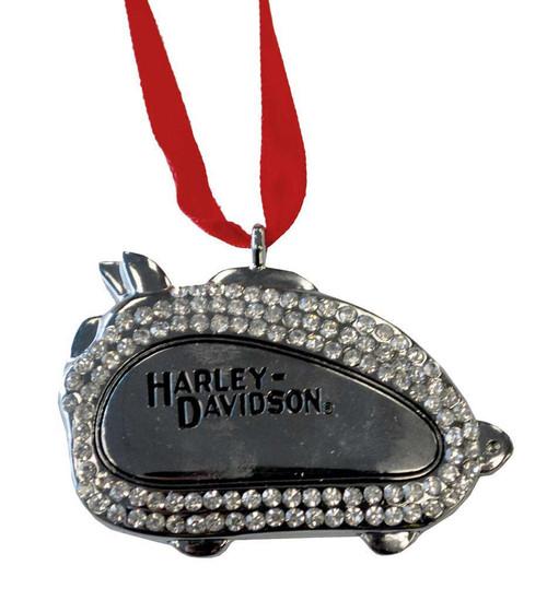 Harley-Davidson® 3D Bling Hog Tank Silver Christmas Tree Ornament 96886-10V