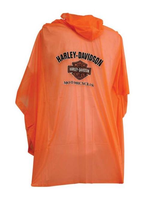 Harley-Davidson® B&S Unisex Waterproof Rain Poncho W/ Hood - Orange RP30264