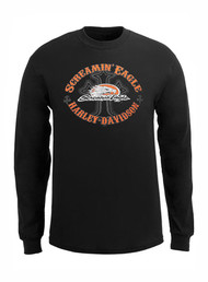 Harley-Davidson® Men's Screamin' Eagle Shirt, Long Sleeve Eagle Cross HARLMT0215 - A