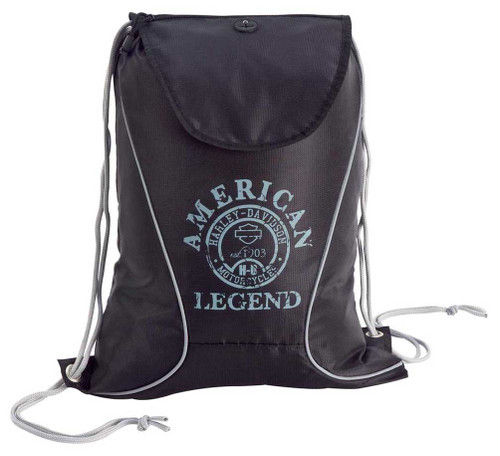Harley-Davidson® Black Sling Backpack 99667-BLK/BLK - Wisconsin Harley-Davidson