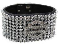Harley-Davidson® Women's Bar & Shield 8-Inch Wrist Cuff HDWCU10111-M/L