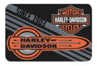 Harley-Davidson® Tune Up Bar & Shield Round Edge Rug, 20 x 30 Inch Black NW080225 - Wisconsin Harley-Davidson