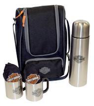 Harley-Davidson® Coffee Tote, Bar & Shield Logo Cooler Tote, Black 437-24 - A