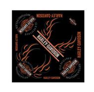 Harley-Davidson® Men's Bandana, Long Bar & Shield Black Head Wrap BA31266