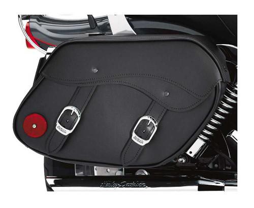 Harley-Davidson® Dyna Leather Saddlebags Black Strap Closures 79300-06D