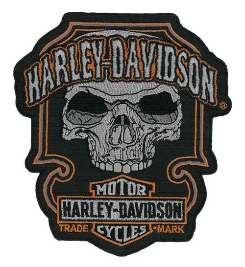 Harley-Davidson® Embroidered Dark Skull Emblem, MD 4.75 x 5.375 Inch EM147643