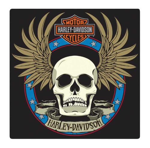 Harley-Davidson® Embossed Spade Winged Skull Tin Sign, 14.5 x 14.5 inch 2010751