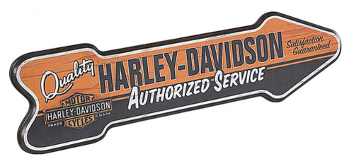 Harley-Davidson® Custom-Cut Authorized Service Arrow Retro Pub Sign HDL-15303 - Wisconsin Harley-Davidson