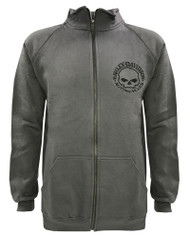 Harley-Davidson® Men's Track Jacket Willie G Skull Logo Charcoal Warm Up 30296619