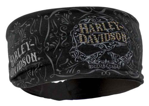 Harley-Davidson® Women's Studded Ornate Willie G Skull Knotted Headband HP14630