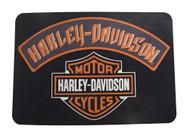 Harley-Davidson® Slang Bar & Shield Tufted Round Edge Rug, 20 x 30 Inch NW069701