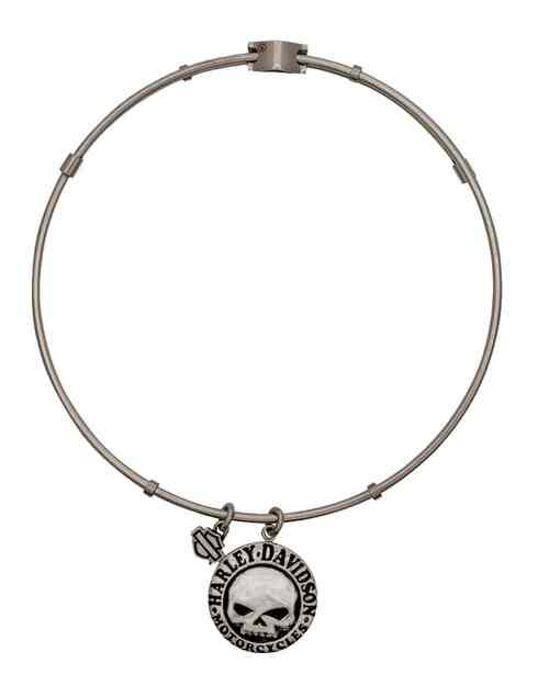 Harley Davidson Charm Bracelet: Harley-Davidson® Women's Bangle, Willie G Skull Disc Charm