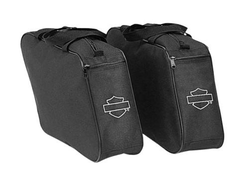 Harley-Davidson® Bar & Shield Zippered Saddlebags Liners, Black 91959-97