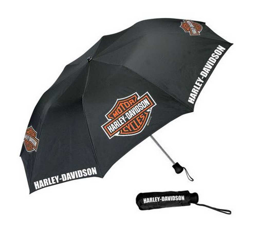 Harley-Davidson® Bar & Shield Ultra Mini Compact Umbrella Black UMB302301