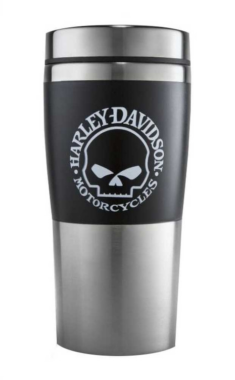 Harley Davidson 174 Willie G Skull Insulated Travel Mug 16 Oz