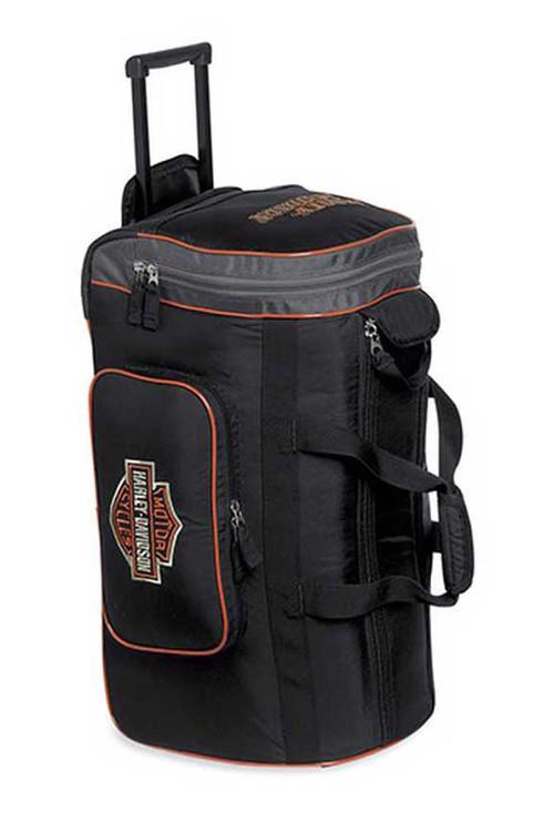 harley-davidson® men's 24'' wheeled duffel duffle bag, black
