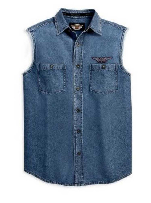 Harley Davidson Button Up Shirts For Mens