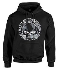 Harley-Davidson® Men's Sweatshirt Willie G Skull H-D Pullover Black 30296648 - Wisconsin Harley-Davidson