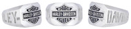 Harley-Davidson® Men's H-D Cut Out Bar & Shield Emblem Ring, Silver HDR0327