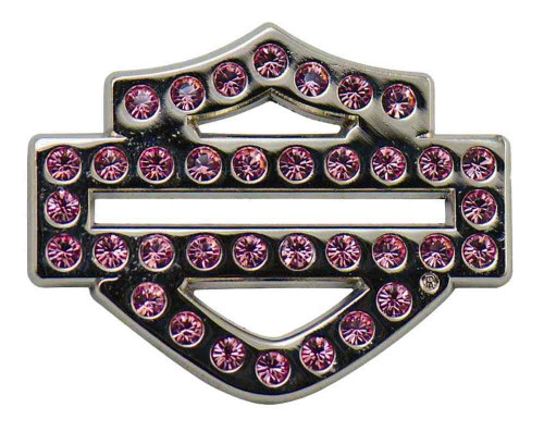 Harley-Davidson® Bling Rhinestone Bar & Shield Logo Pin, Pink, 1.25 x 1 in 126577