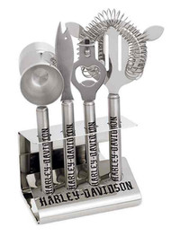 Harley-Davidson® 5-Piece Bar Tool Set Stainless Steel, Silver. 96801-16V
