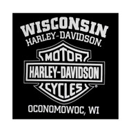 Harley-Davidson® Men's Eagle Hoodie, Hooded Sweatshirt Zippered, Black 30296661 - A