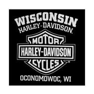 Harley-Davidson® Men's Eagle Hoodie, Hooded Sweatshirt Zippered, Black 30296661 - A